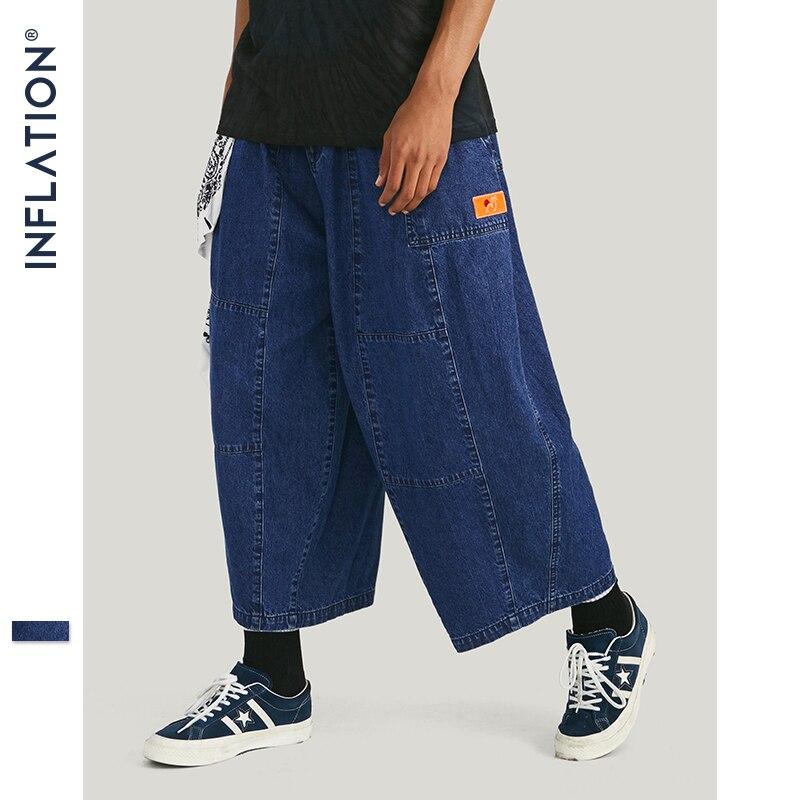 INFLATION 2019 Autumn New Hip Hop Mens   Jeans   Old Style Denim   Jeans   Pants Hip Hop Baggy   Jeans   Loose Straight   Jeans   Pants 93340W