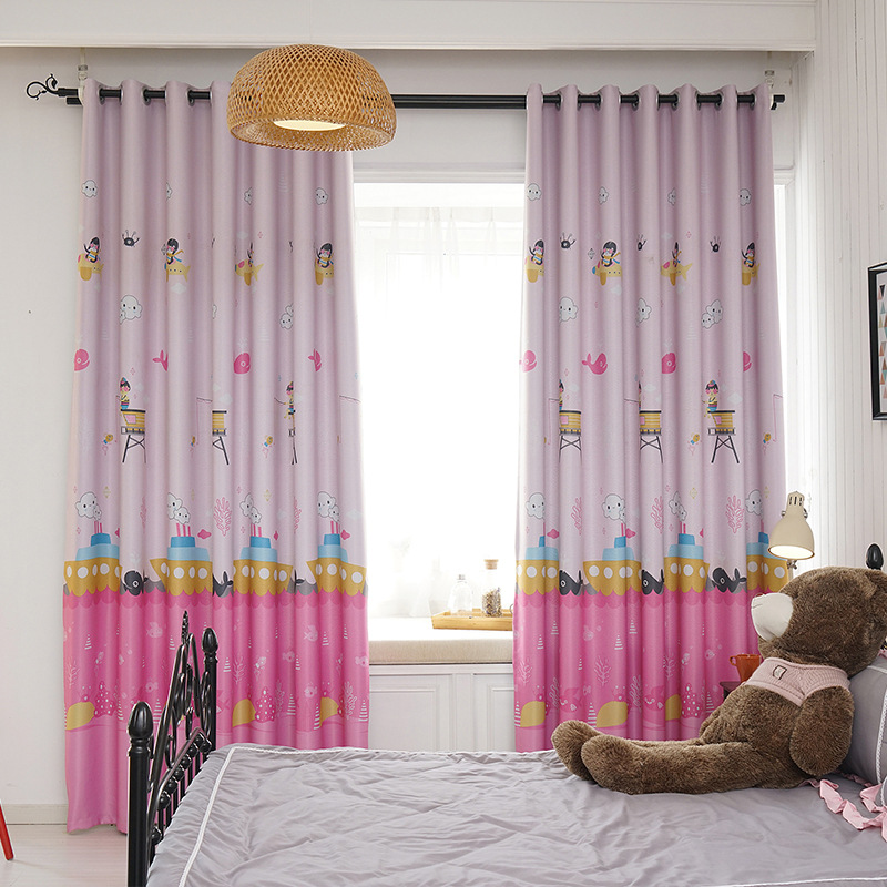 Buy cartoon curtains for living dining - Childrens bedroom blackout curtains ...