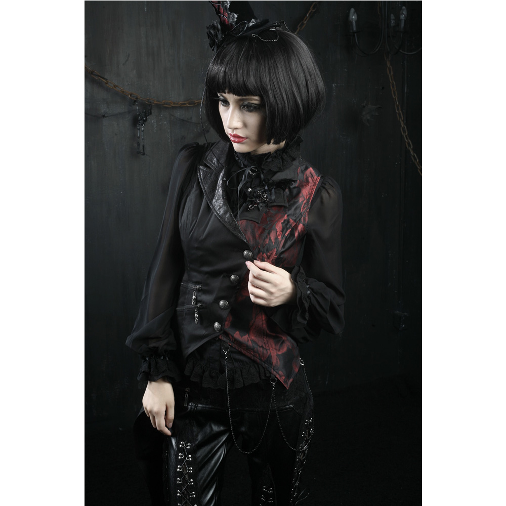 PUNK RAVE Women Gothic Fashion Vest Coat Steampunk Vintage Party Clothing Halloween Vampire Cosplay Jacket Coat