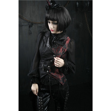 PUNK RAVE Women Gothic Fashion Vest Coat Steampunk Vintage Party Clothing Halloween Vampire Cosplay Jacket