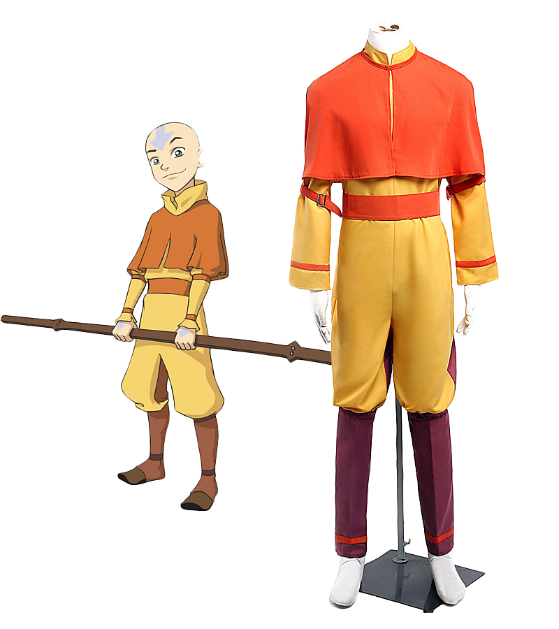 <font><b>Avatar</b></font> <font><b>Aang</b></font> Cosplay Costume Custom Made Any Size image