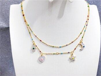 deab80b8f975 Suerte mujer Cruz colgantes de cristal de plata collares de cadena  pendientes brillante Zirconia collares gargantilla