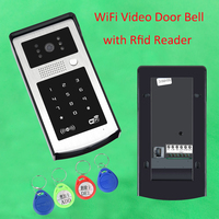 Free Shipping Wifi Video Door Phone Intercom Metal Outdoor Doorbell with RFID & Code Keypad Access Door Bell