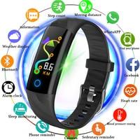 BANGWEI 2018 Smart Watch Men Smart Wristwatch Blood Pressure Heart Rate Monitor Fitness Tracker Waterproof Pedometer Sport Watch