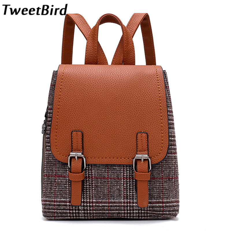 ec9cac50c13c TweetBird Women Leather Backpacks School Bags for Teenagers Casual Travel bag  Girls Shoulder Bags Student Backpack