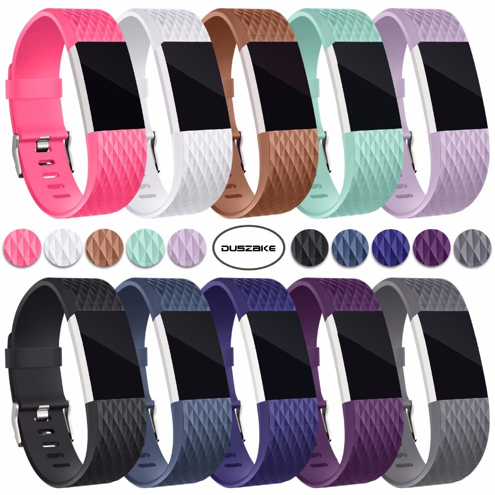 3D Replacement Straps For Fitbit Charge 2 Band Colors Soft Silicon Smartwatch Sport Bracelet Band for Fitbit Charge2 Bands
