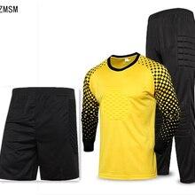 ZMSM, для детей и взрослых, Футбольная форма вратаря, мужские футбольные майки, комплекты, детские футбольные Вратарские воротники, рубашка, штаны, шорты