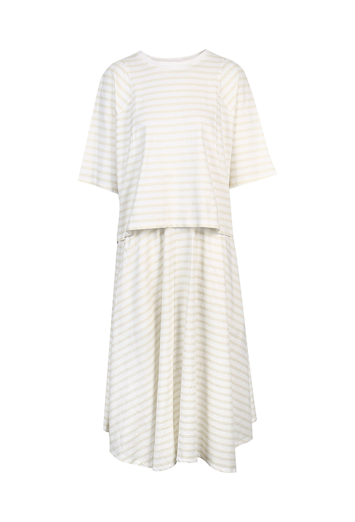 Vero Moda Women's 19 100% Cotton Loose Fit Striped Night Dress Suit | 3191TS501 20
