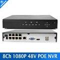 CCTV H.264 Onvif NVR POE 8CH 960 P/8CH 1080 P POE 1 * HDD segurança 8Ch NVR Recorder Com Câmera IP P2P Fácil Visualização Remota