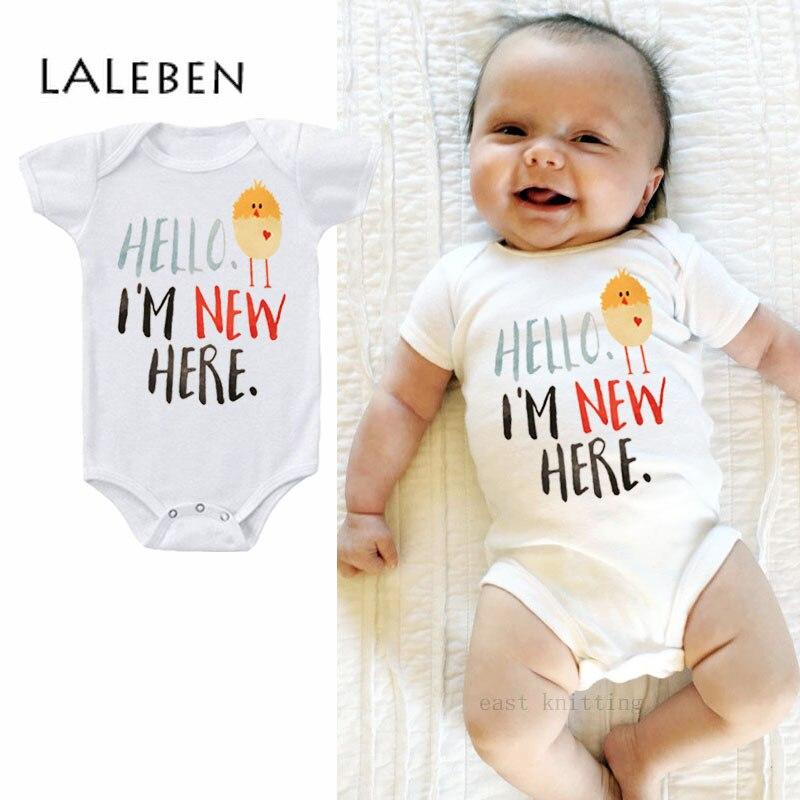 Baby Boy   Rompers   Summer Short Sleeve Triangular Shirt Baby Alphabet Lovely Chicken Printed Newborn Climbing Suit