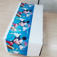 Mickey Mouse Party Supplies Disposable Tablecloth kids Birthday Decoration Baby Shower For Kids Boys 108x180cm 1
