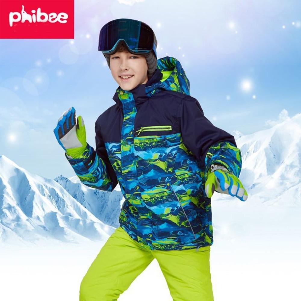 Enfants chaud garçons/filles combinaison de Ski pantalon imperméable + veste ensemble Sports d'hiver vêtements épaissis costumes de Ski pour enfants