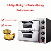 Коммерческих термометр двойной электрический для пиццы/мини печь для выпечки/хлеб/торт тостер горячей духовке пластины GQ 2PT 220 В 3kw 1 шт.