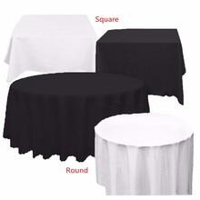 Impermeable Blanco Negro PE Mantel Cubierta de Tabla Paño Limpie con un trapo de Banquetes Eventos Del Banquete de Boda Decoración de La Mesa de Textiles