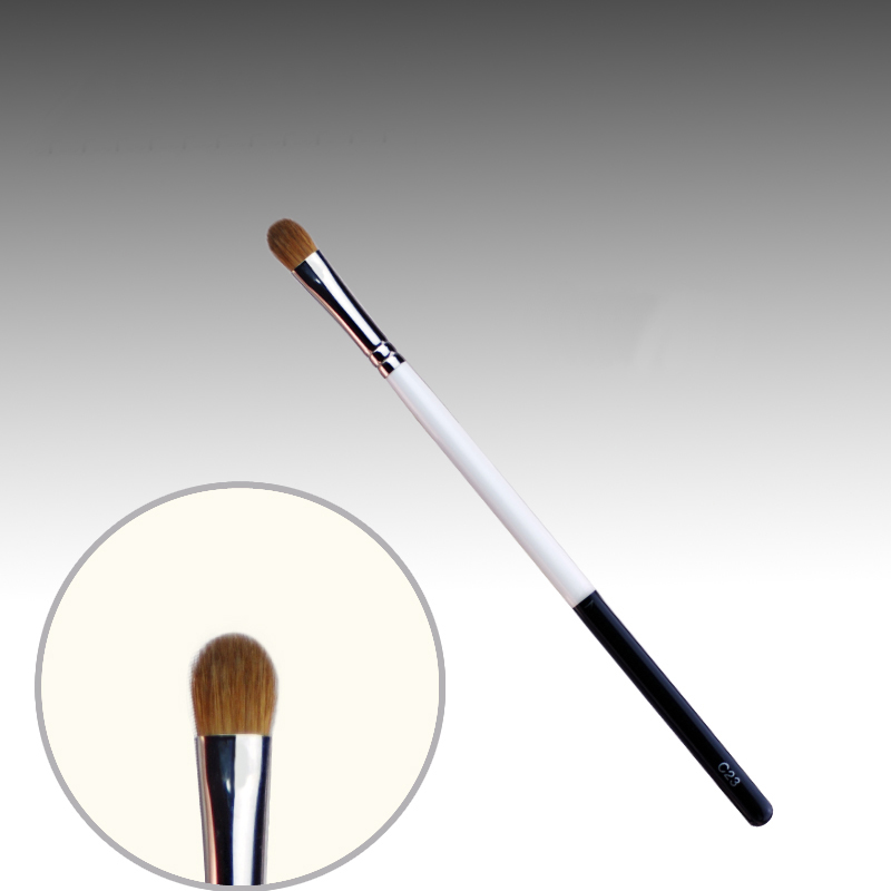 C23 Professional Makeup Brushes Weasel Hair Eye Shadow Brush White Black Handle Cosmetic Tools Make Up Brush 7e08 professional makeup brushes weasel hair eye shadow blending brush black handle cosmetic tools smoky eye make up brush