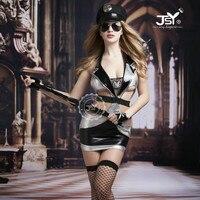 9715 New Policewoman Uniform Temptation Cosplay Costumes Female Police Lingerie Halloween Sexy Nightclub Costumes