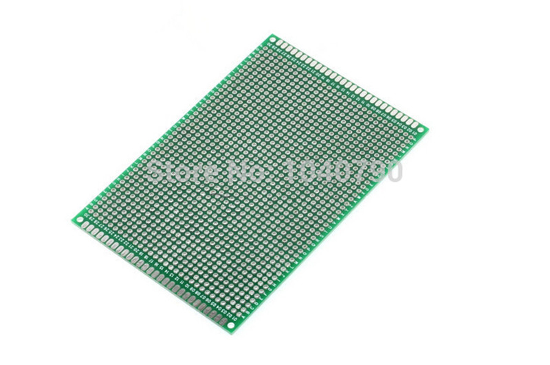 8*12cm 2pcs Double Sided PCB Printed Circuit Board Prototyping FR-4 Glass Fiber Universal Double Circuit Board
