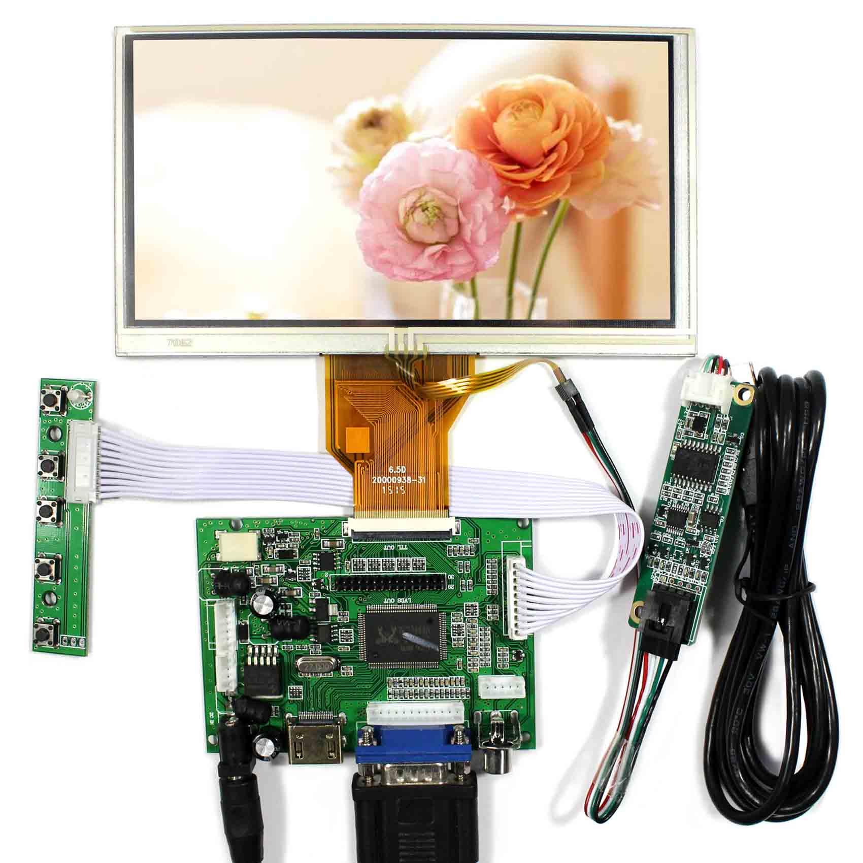 HDMI+VGA+2AV Controller Board VS-TY2662-V1 + 6.5inch 800x480 AT065TN14 LCD Touch Screen цена и фото