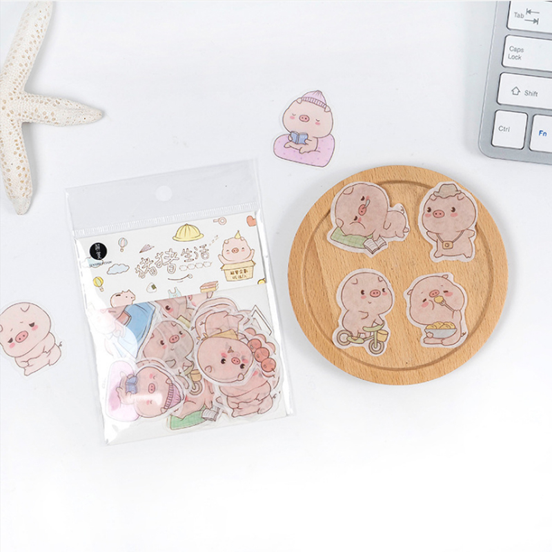 45 Pcs/Lot Jiejue Cute pig animal decoration paper sticker decoration DIY album diary scrapbooking label sticker kawaii45 Pcs/Lot Jiejue Cute pig animal decoration paper sticker decoration DIY album diary scrapbooking label sticker kawaii