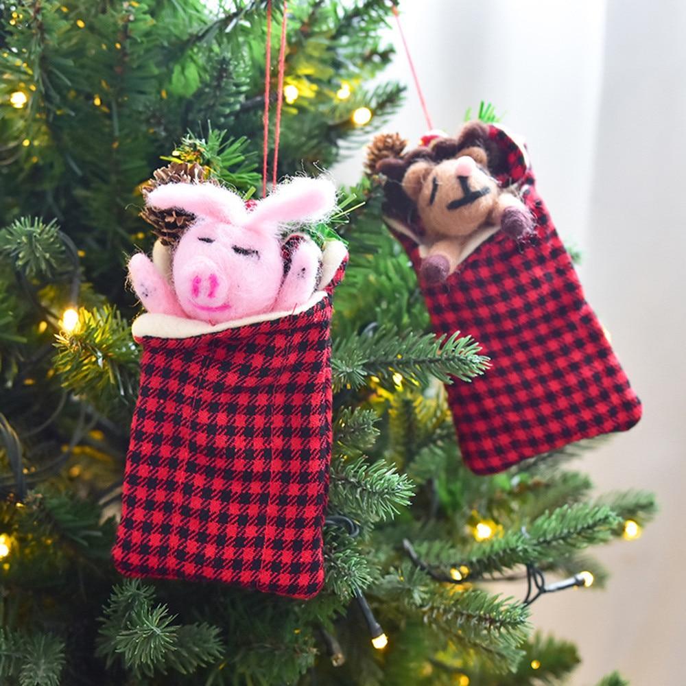 2018 New Fashion Mini Christmas Candy Bag Xmas Gift Wrapping Bags Holiday Party Supplies Christmas gift bag Holiday Decor