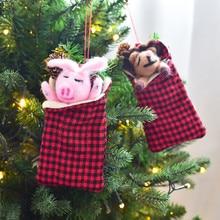2020 Mini Christmas Candy Bag Xmas Gift Wrapping Bags