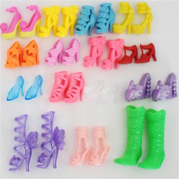 20 sztuk = 10 par dziewczyna dziecko kolorowe wysokie sandały na obcasie akcesoria na buty dla lalek ubrania sukienka Prop najlepsze zabawki prezentowe tanie i dobre opinie KittenBaby Other CN (pochodzenie) shoes Dziewczyny Moda fit for 29CM barbie dolls No Eating Akcesoria dla lalek