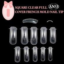 1box *100pcs Dual Clear Nail System Form for Uv Acrylic false nail Art mold Tips fake nails