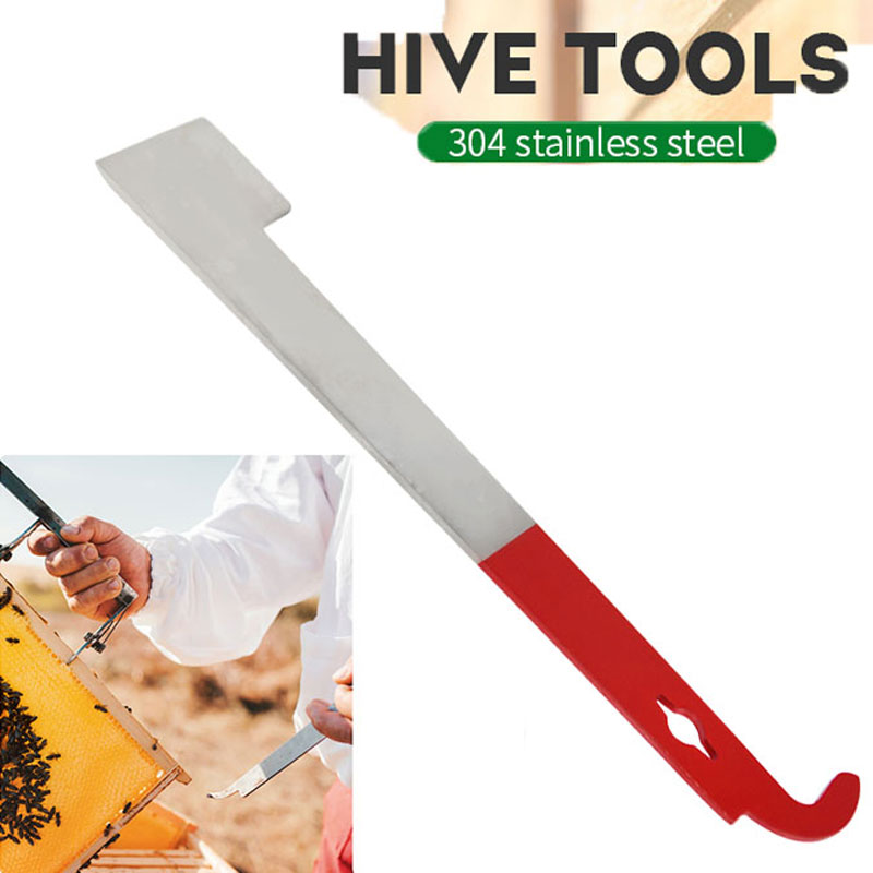 Scraping Knife Lifter Frame Beekeeper-Tool Stainless Equipmentc Red Hook And 27cm J-Shape title=