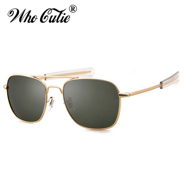 3274388c5c8 WHO CUTIE 2019 Men Polarized AO Sunglasses MILITARY American Optical Lens  James Bond Sun Glasses Driving Hot Male Shades OM399
