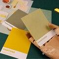 250 folha/bloco almofada de memorando kawaii adesivos cor sólida pegajoso diy notas mensagem scratch postado agenda atadura papelaria escritório