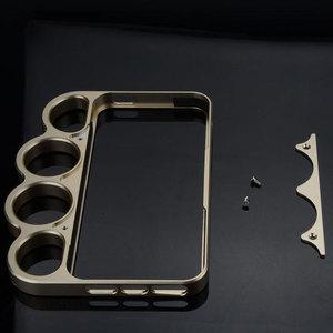 Image 2 - 100% alliage daluminium boxe pour iPhone 5 5s pare chocs mode seigneur anneaux knuckle doigt téléphone cadre housse pour iPhone 5G SE