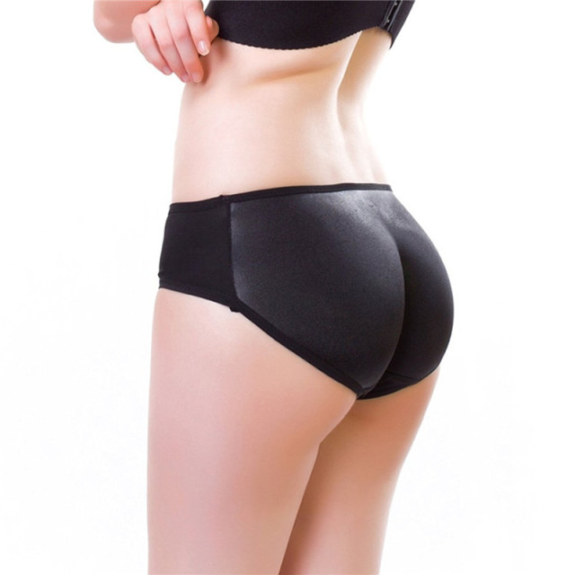Ningmi Fake Big Ass Pad Panty Brief Women Hip Enhancer Butt Lifter Padded Control Panties Shorts