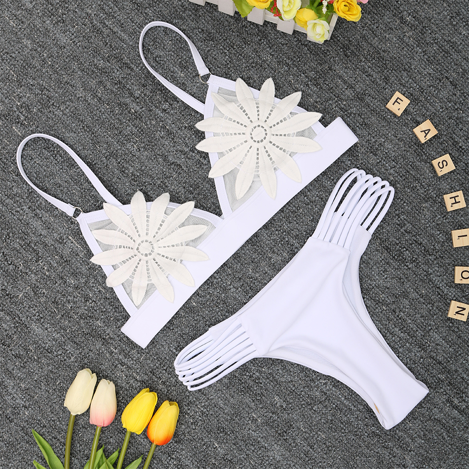 2018 New Bandage Bikini Sexy Swimwear Women Swimsuit Push Up Bikini Set Brazilian Bathing Suits Beach Wear Maillot De Bain Femme 2