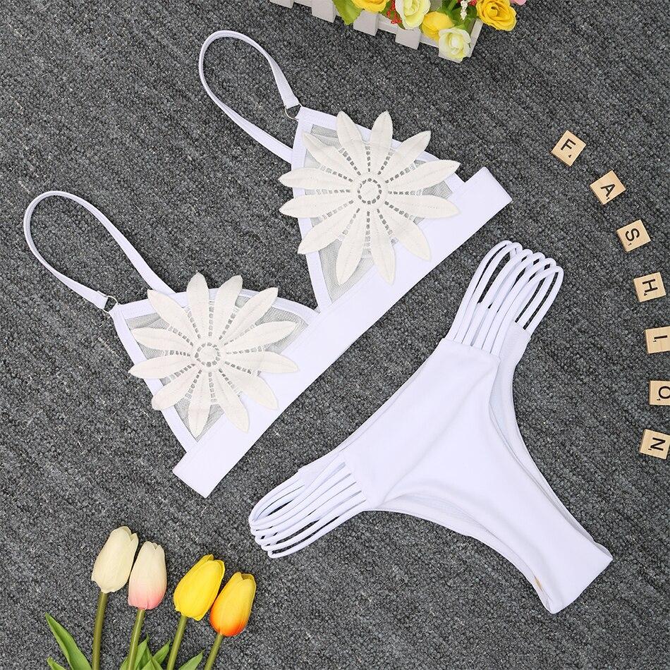 4e438b47f0 2018 New Bandage Bikini Sexy Swimwear Women Swimsuit Push Up Bikini Set  Brazilian Bathing Suits Beach ...