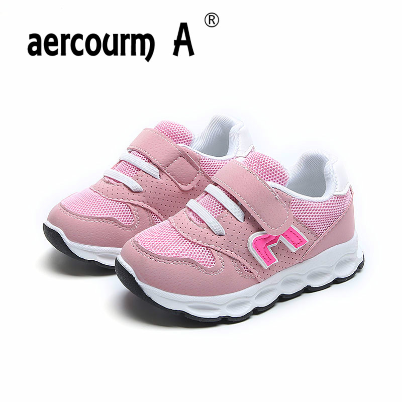 Aercourm A Children Boys Shoes 2018 Spring Sports Shoes Girls Boys Running Shoes Children Breathable Sneakers Spell Color 21-30 2017 spring autumn children shoes boys sneakers fashion boys sports shoes breathable running shoes for boys tenis infantil