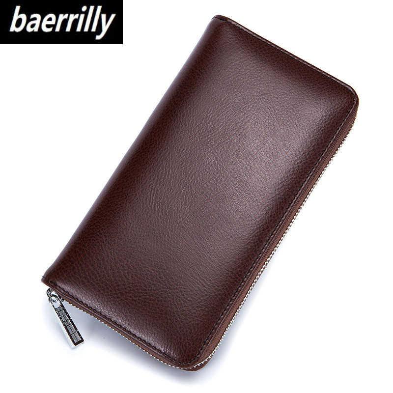 Kulit Sapi Asli Anti Pencurian 36 Kartu Kredit Pemegang Kartu Case Organizer Paspor Dompet Pria RFID Blocking Dompet Kartu Dompet