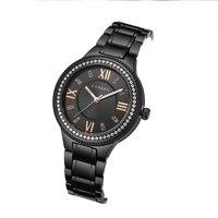 Top Luxury Brand Curren Watches Women Black Steel Bracelet Women's Quartz Watch Shining Crystal Elegant Reloj Mujer Waterproof