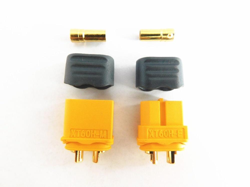 10pcs/lot Original Amass XT60 XT60H Bullet Connectors Plugs Male Female FOR Lipo Battery(China)