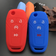 ZAD Silicone car key cover case set for ford Fusion 2013 2014 2015 Fiesta Mustang Fiesta