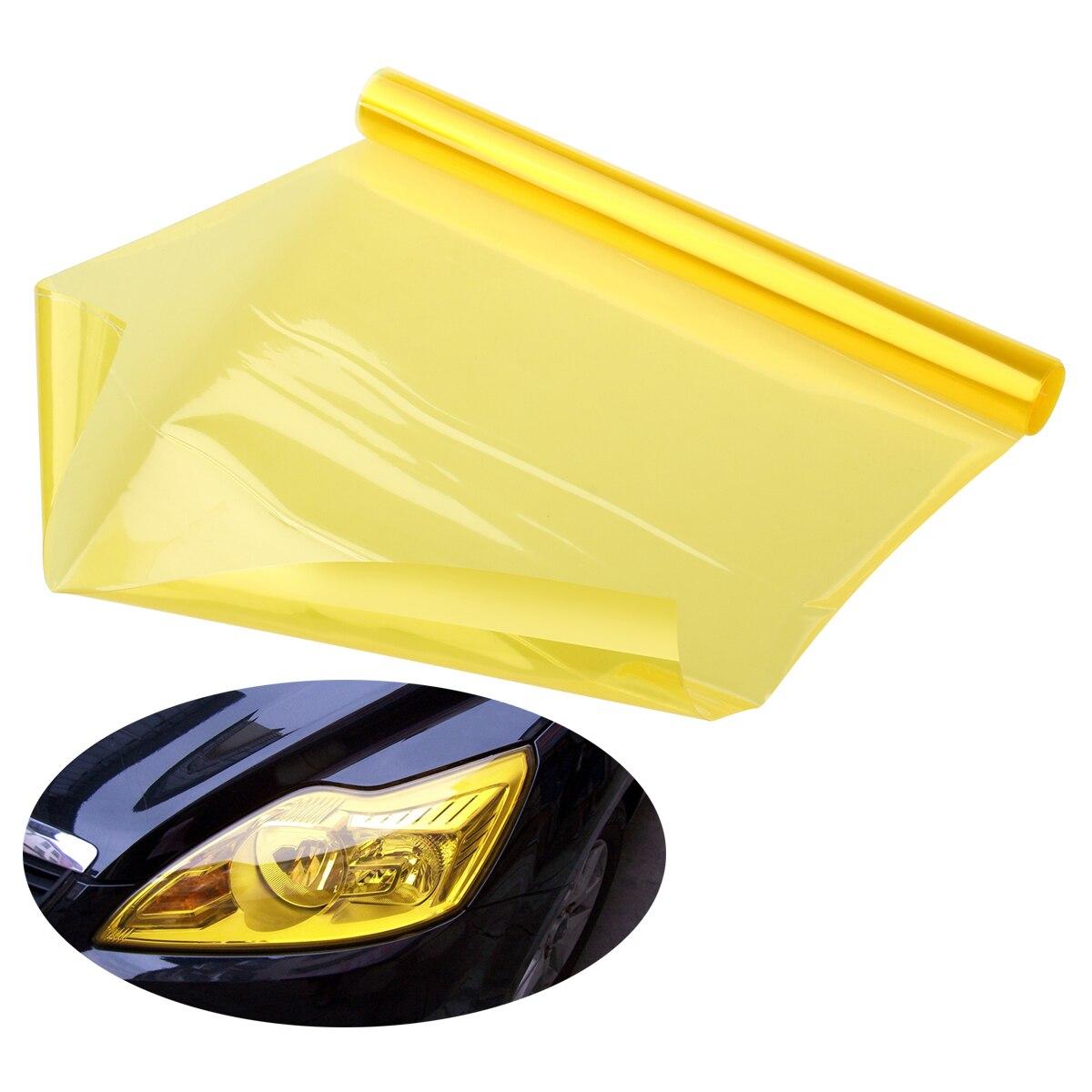 Golden Yellow Optix Chameleon Neo Chrome Headlight Fog Light Taillight Vinyl Tint Film 12x36 in 1x3 Ft