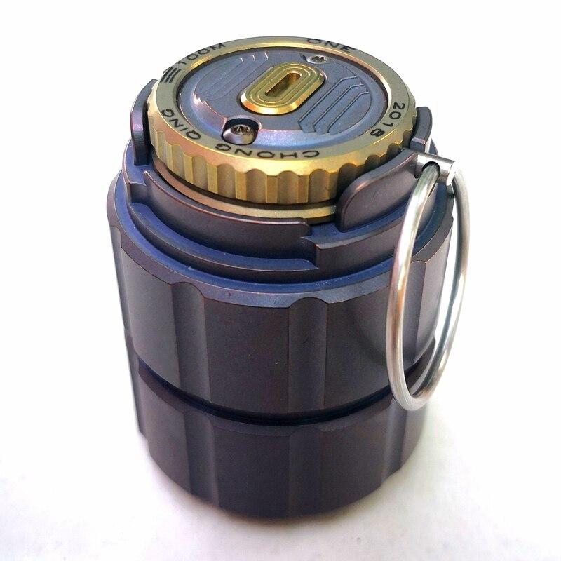 Pot en titane de bouteille de capsule étanche portable bouteille de médicament boîte de stockage réservoirs de camping en plein air outil