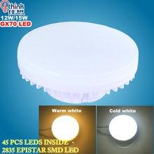 gx70 led lamp 12w 15w led light smd2835 led bulb ac 220v 240v warm white/cold white super bright spotlight bulb free shipping
