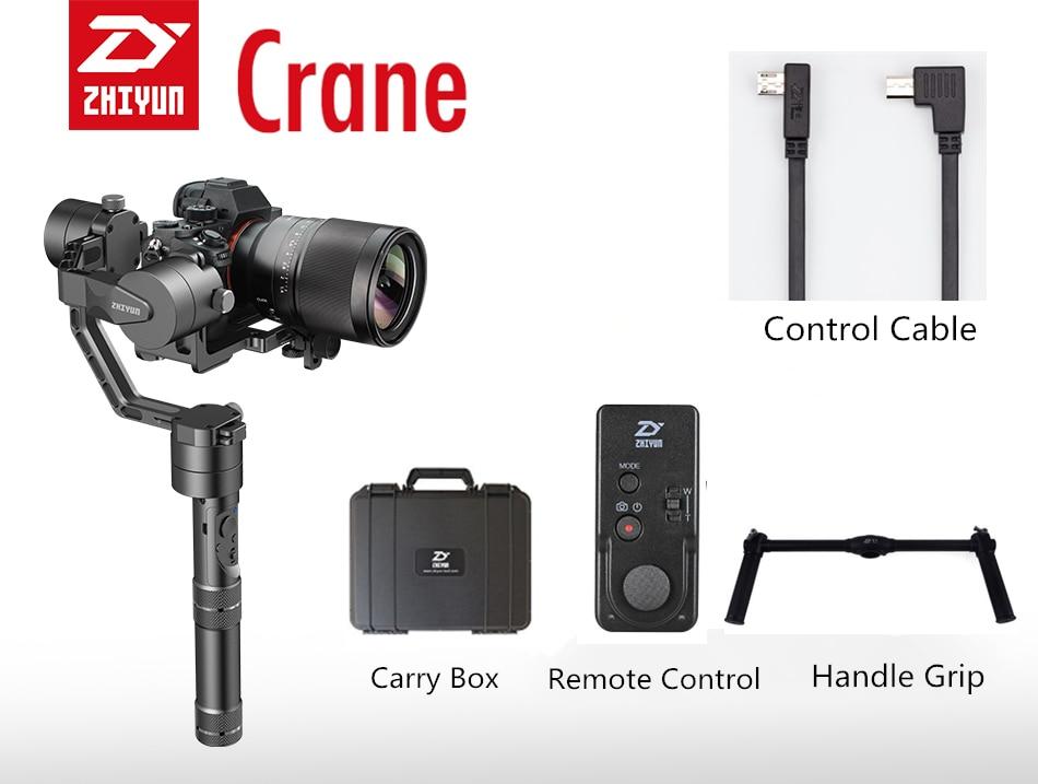 Zhiyun Crane V2 3-axis Brushless Handheld Video Camera Stabilizer Gimbal Kit for Mirrorless DSLR Camera zhiyun crane m crane m 3 axis brushless handle gimbal stabilizer for smartphone mirroless dslr gopro 125g 650g