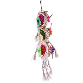 Vogel Speelgoed Papegaaispeelgoed Swing Papegaaienkooi Bal Opknoping Valkparkiet Parkiet Huisdier Vogel Beten Klim Kauwspeeltjes 3
