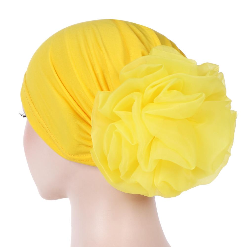 New Muslim Inner Hijab Hijab Islamic Caps Hijab Caps Turban For Women's Casual Soft Women Chemo Hat Head Wrap Flower