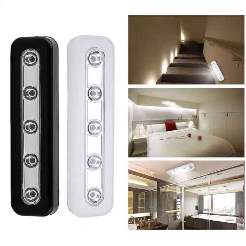 1 шт. беспроводной 5 светодиодный ночник шкаф гардероб лестница кухня ночник для спальни ящик Зажигалка освещение в помещении
