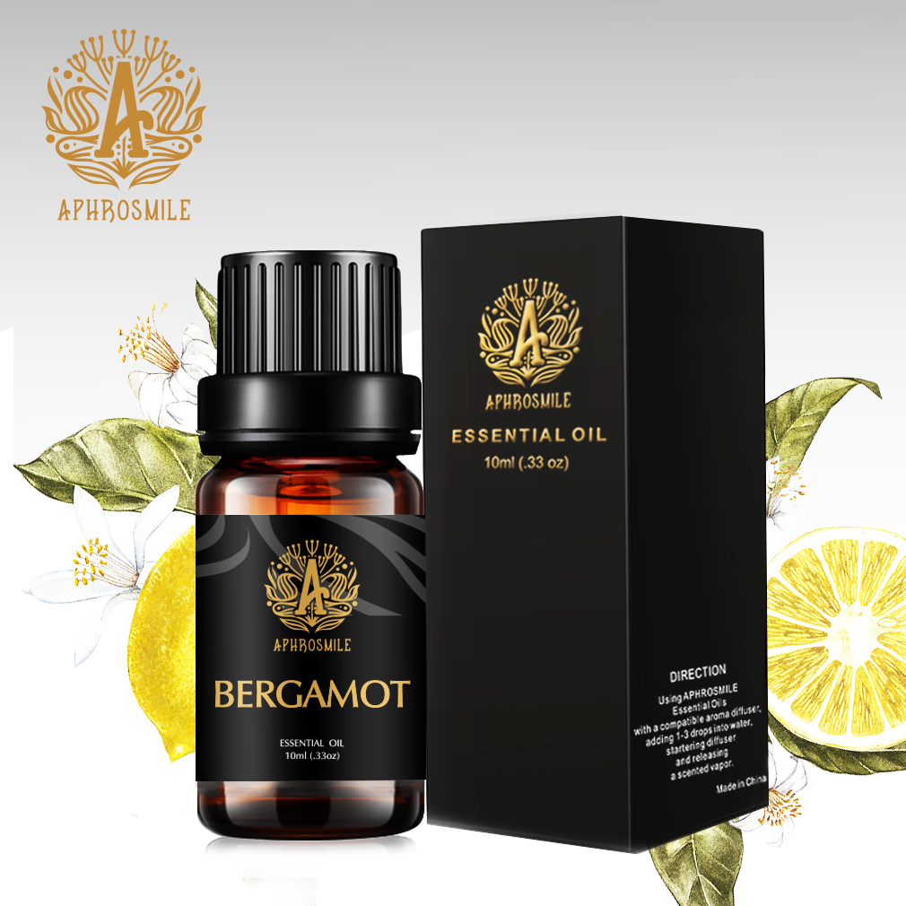 Water-soluble Bergamot Essential Oil for Aromatherapy Diffuses Pure Natural Bath/SPA/Massage Oil Clean Skin Balance Water-oil
