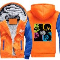 Wholesale Price Rock Band Winter Coat Men/Women Hoodies Sweatshirts Thicken Fleece Male Hip Hop Street Jackets