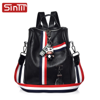 SINTIR Brand Cute Ornaments Women Backpack High Quality Soft PU Leather School Bags For Teenagers Girls