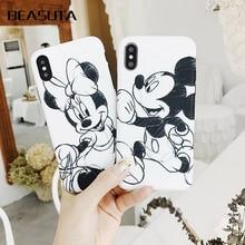 купить Mickey Minnie Donald Daisy Duck Phone Case For iPhone X 8 7 Plus TPU Cartoon Soft Back Cover For iPhone 7 6s XS MAX Cute Shell дешево